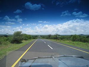 Ngorongoro District - Trunk road heading towards Ngorongoro