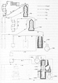 Heike Kamerlingh Onnes - 24 - Diagram of the cascade with which liquid air was produced in three cycles.png