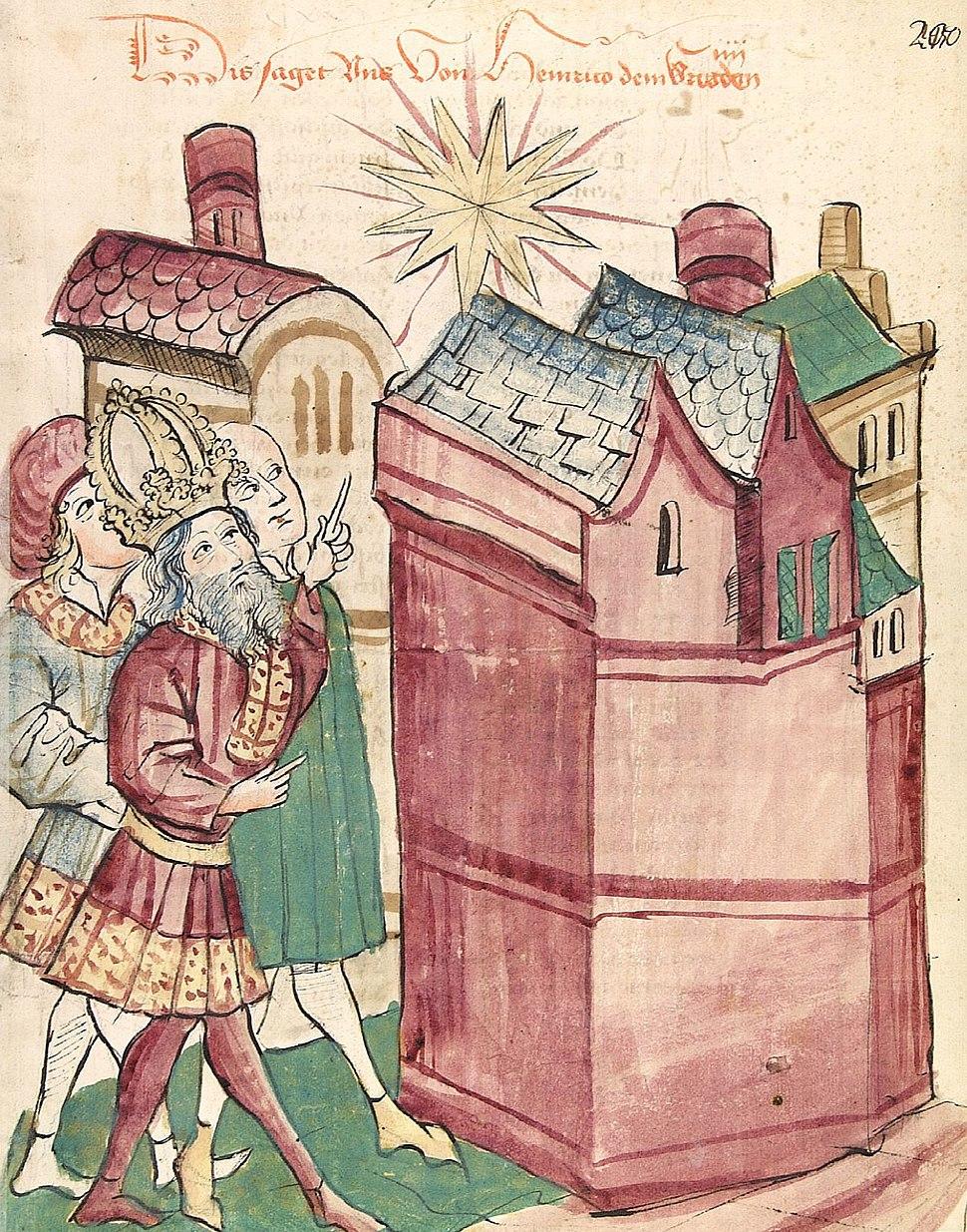 Heinrich III. sieht den neuen Stern über der Stadt Tivoli (Tyburtina)