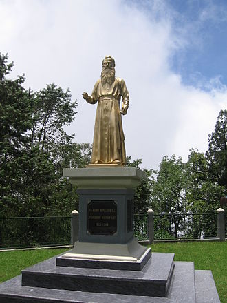 Henri Depelchin - Statue of Henri Depelchin on the grounds of St. Joseph's College in Darjeeling