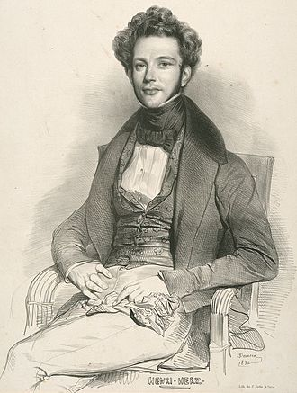Henri Herz - Portrait of Henri Herz in 1832.