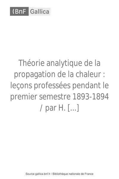 File:Henri Poincaré - Théorie analytique de la propagation de la chaleur, 1895.djvu