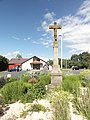 Henridorff (Moselle) croix de chemin et salle socioculturelle.jpg
