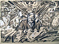Herbert Hoover as the new President, March 17, 1929.by Oscar Cesare.original drawing.01.detail.jpg