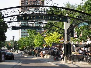 Hess Street (Hamilton, Ontario) - Hess Village, entrance
