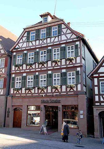 Дом семьи Гессе-Гундертов в Кальве, где писатель провел детские годы.