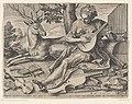 Het gehoor (Auditus) De vijf zintuigen (serietitel), RP-P-1887-A-12002.jpg