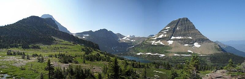 Hidden Lake, MT panorama