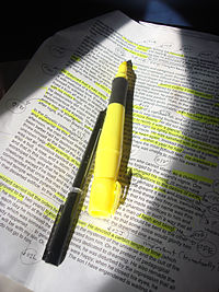 Highlighter pen -photocopied text-9Mar2009.jpg
