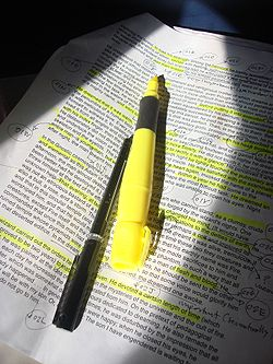definition of highlighter