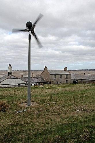 Hilbre Islands - Image: Hilbre Island wind turbine (geograph 2857538)
