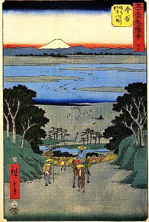 Hiroshige, The station Kanaya
