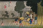 Hiroshige People seeking shelter from the rain.jpg