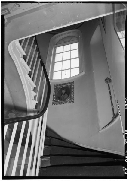 File:Historic American Buildings Survey John O. Brostrup, Photographer January 21, 1937 10-45 A.M. DETAIL OF STAIRWAY. - 2d FLOOR - Decatur House, National Trust for Historic HABS DC,WASH,28-18.tif