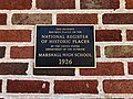 Historical Marker, Old Marshall High School, Marshall, NC (46688951561).jpg