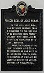 Historical marker Rizal Prison Cell.jpg