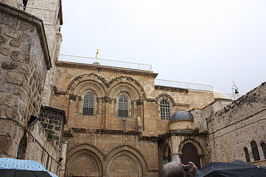 Holy Sepulchre facade from parvis 3.jpg