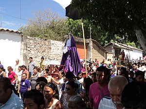 Our Lady of Sorrows - Procession in honor of Our Lady of Sorrows as part of Holy Week observances in Cocula, Guerrero, Mexico