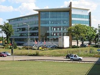 Civil parishes in Berkshire - Image: Honda Building, M4 Junction 5 geograph.org.uk 25755
