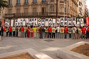 Català: Líders sindicals d'UGT i Comissiones O...