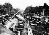 Train accident at Hugstetten