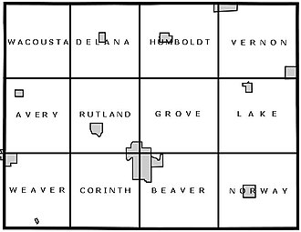 Humboldt County, Iowa - Humboldt County is divided into 12 townships.