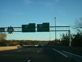 Interstate 391 - I-391 just before the Route 141 interchange