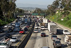 Korek na I-5 w Los Angeles