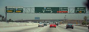 Orange Crush interchange - I-5 northbound at the Orange Crush