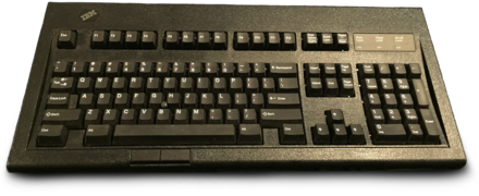 be81666375b IBM Model M13 'black' variant featuring the optional black trackpoint cap.