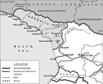 Guerra Civil Georgiana Wikiwand - Mapa de georgia