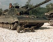IFOR Leopard 1A5 crushing