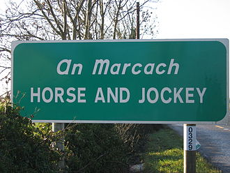 Horse and Jockey - Road sign on the R639.