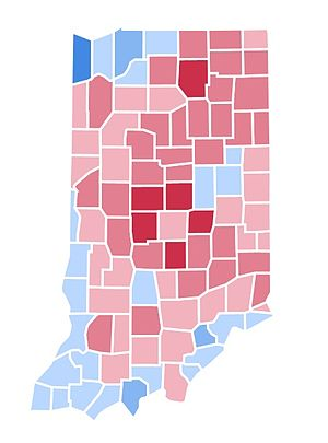 United States presidential election in Indiana, 1996 - Image: IN1996