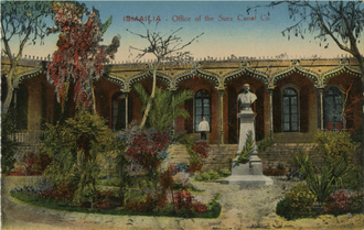 Suez Canal Company - Postcard depicting the Suez Canal Company headquarters