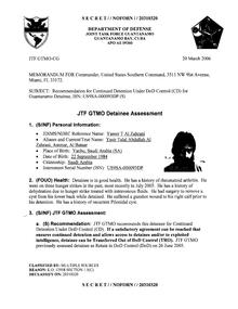 ISN 00093, Yasser T Al Zahrani's Guantanamo detainee assessment.pdf
