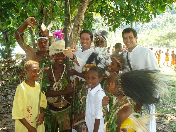Catholic missionaries in Papua New Guinea IVE Missionaries in Papua New Guinea.jpg