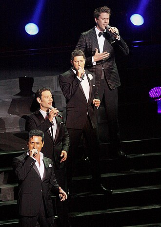 Crossover music - Four-piece musical group Il Divo, a noted classical crossover act, performs in February 2012 at the Sydney Opera House.