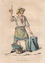 Venditore ambulante di sorbetti, Napoli - 1835.