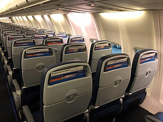 Sun Country Airlines - New seats on the Sun Country Boeing 737-800 in January 2019. Arranged in an all-economy layout.