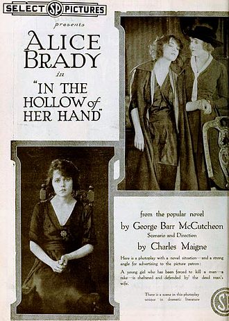 In the Hollow of Her Hand -  contemporary advert