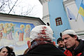 Injuried protesters seen after violent assault on main square, Kiev. November 30, 2013.jpg