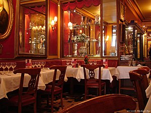 Café Procope - Le Procope is in 18th-century style