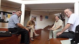 Goa University - International scholars at the Goa University, seminar, 2011 --from left: Gomes, Trichur, Suzuki, Newman.