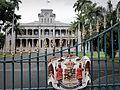 Iolani Palace Gate.JPG