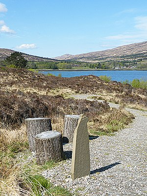 Irvine Butterfield - Memorial stone on Rùm
