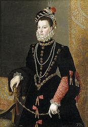 Juan Pantoja de la Cruz: Queen Elisabeth of Valois, third wife of Philip II