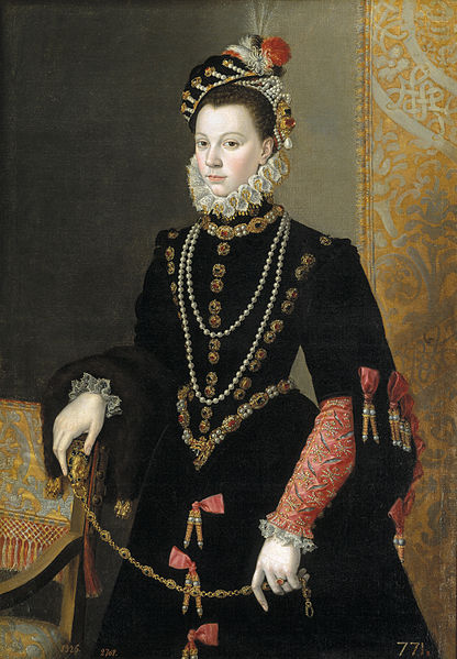 Isabel de Valois, atribuido a Juan Pantoja de la Cruz.