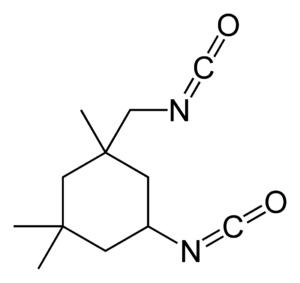 Isophorone diisocyanate - Image: Isophorone diisocyanate 2D skeletal