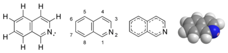 Isoquinoline chemical structure.png